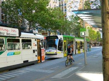 Swanston Street Melbourne October 2014.