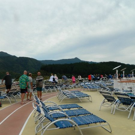 """The walking/jogging track on """"Explorer of the Seas"""""""