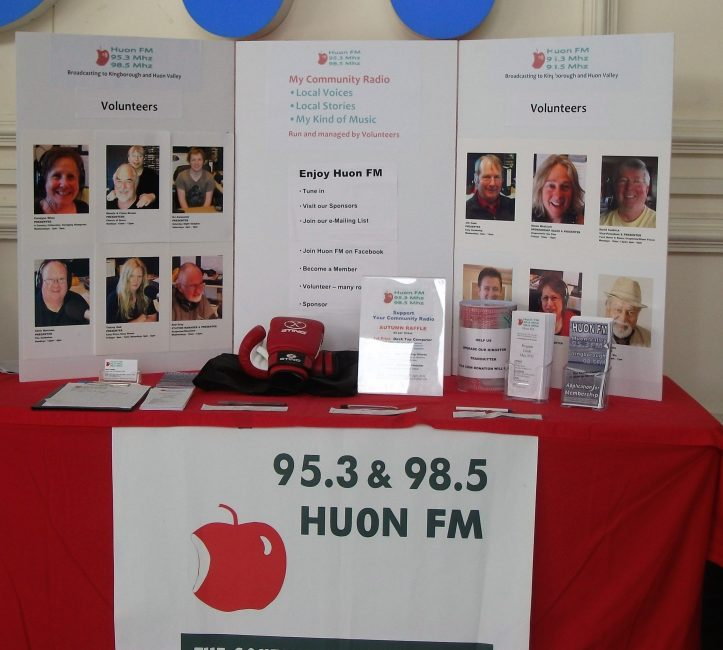 Fund raising for our Geeveston based community radio station a few years ago.