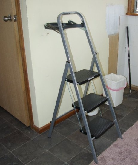 A nice new step ladder - with a shelf.