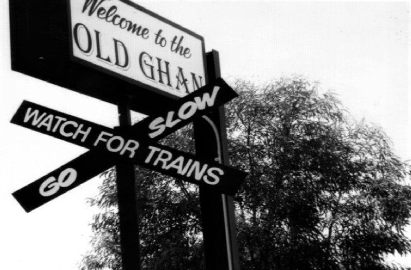 Sign at the old Hawker, SA station.