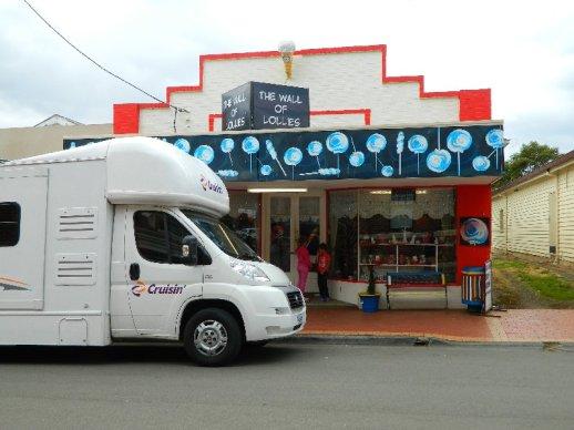 The Wall of Lollies, Geeveston Tasmania