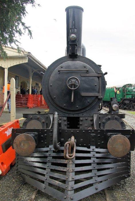 Tasmanian steam locomotive C22 at the Tasmanian Transport Museum.