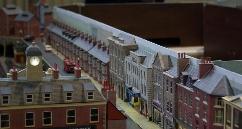 An English town scene.
