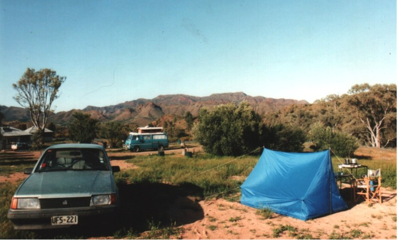 Our Camira at the Angorichna Village camp site circa 1987-8
