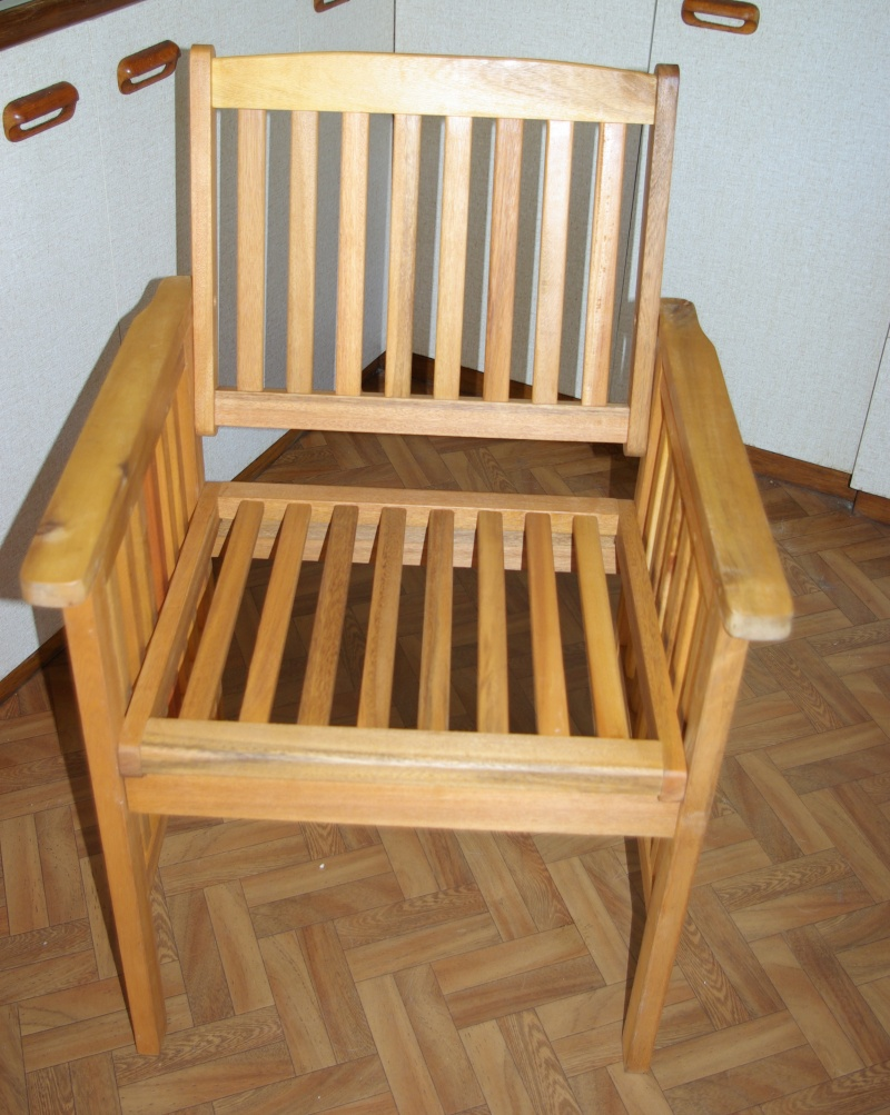 One chair completed.