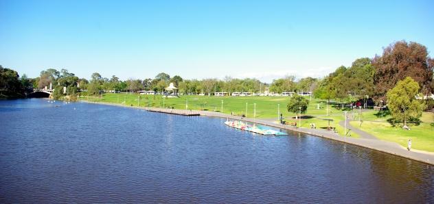 The River Torrens at Elder Park, Adelaide.