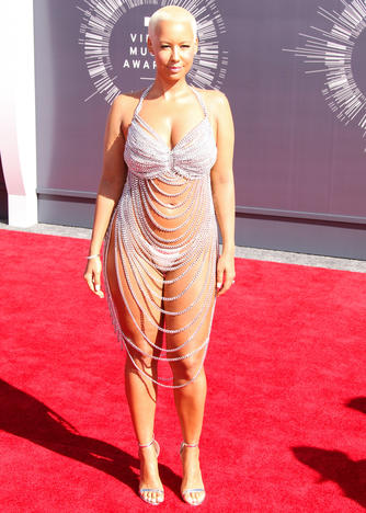 24 Aug 2014, Inglewood, California, USA --- Model Amber Rose arrives at the 2014 MTV Video Music Awards, held at The Forum on August 24, 2014 in the Inglewood, California. Pictured: Amber Rose --- Image by © Xavier Collin/Celebrity Monitor/Splash News/Corbis