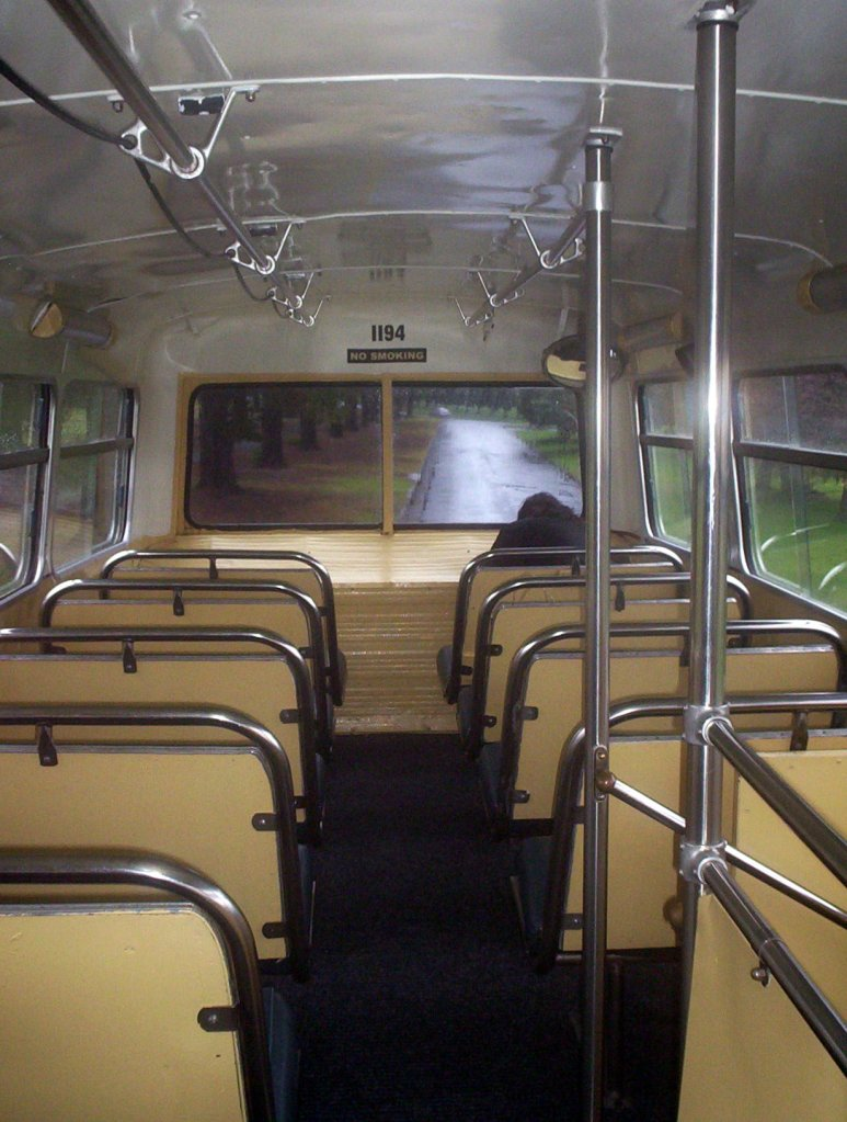Seats on a vintage bus