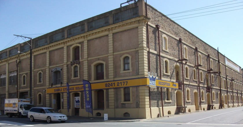 Old warehouses in Port Adelaide.