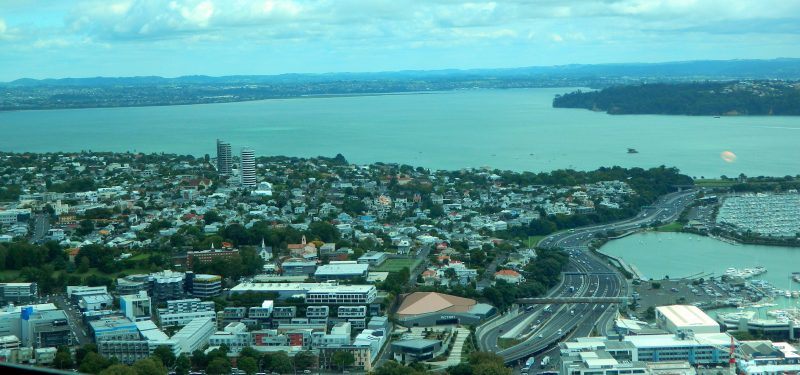 Auckland rooftops from the Sky Tower.
