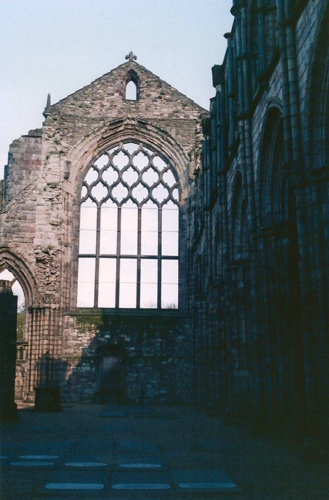 Holyrood Abbey in the grounds of Holyrood Palace in Edinburgh.