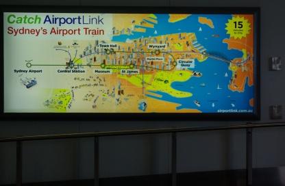 Map of Sydney rail system.