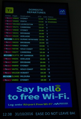 electronic flight information sign