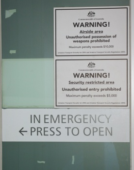 Airport warning signs