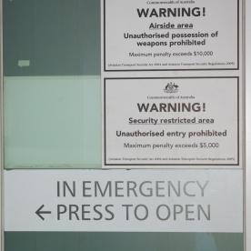 Airport warning signs