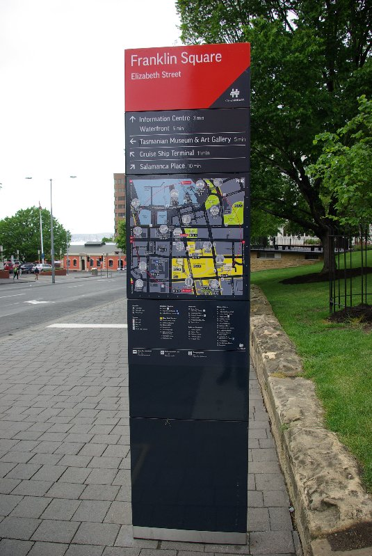 Information sign on Elizabeth St.
