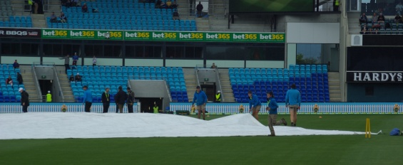 The heavy covers go over the hessian if the rain is heavy or prolonged.