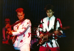 Neil Finn, right, and the late Paul Hester