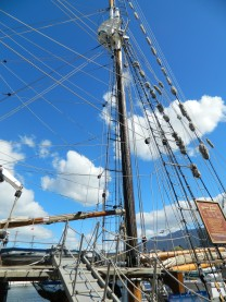Rigging on a tall ship.