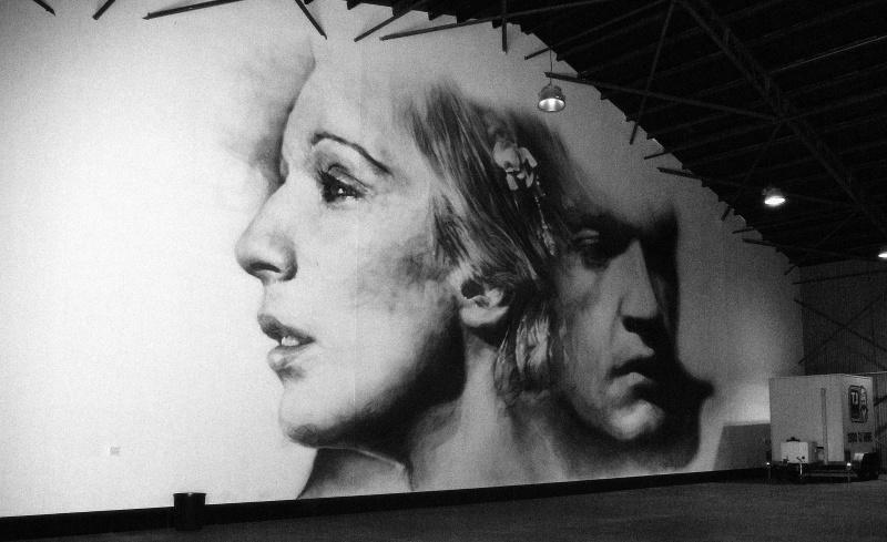 man woman mural