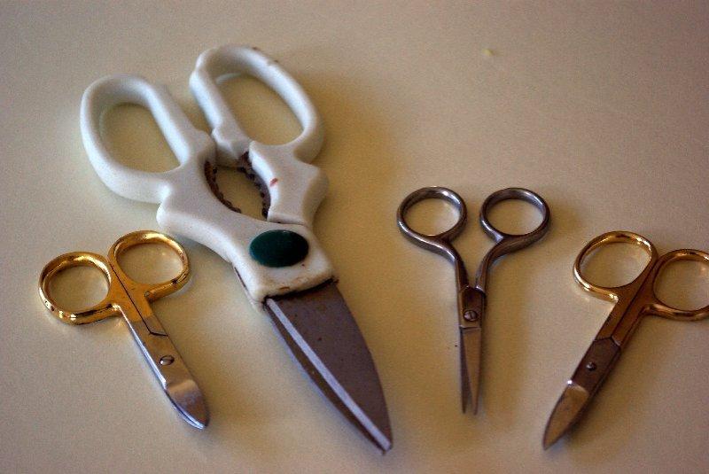A few pairs of scissors.