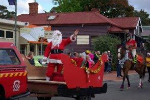 Santa arrives in Geeveston