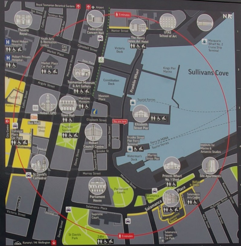 Map of the waterfront.
