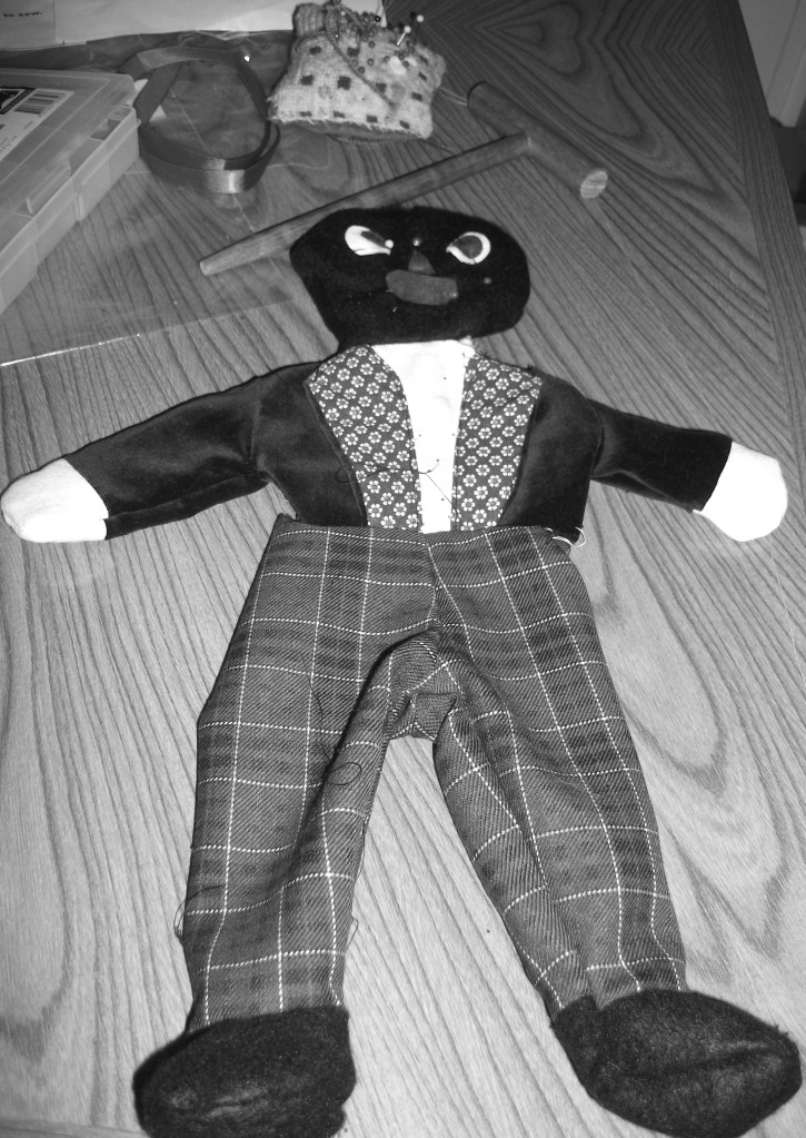 sewing him together.