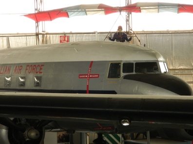 vintage aircraft at the Aviation Museum in Port Adelaide.