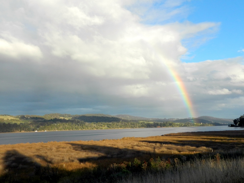 Rainbow over the Huon River