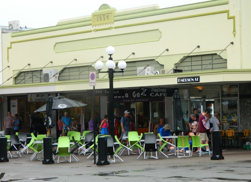 Art Deco shops and cafes in Napier.