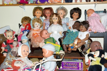 Some of my doll collection.