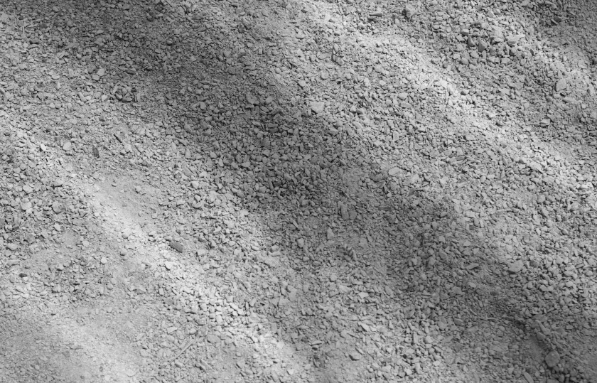Limestone dust .