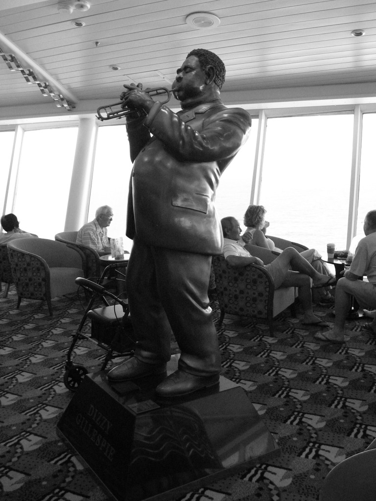 Dizzy Gillespie statue on Explorer of the Seas