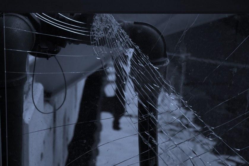 Cracked Glass panel