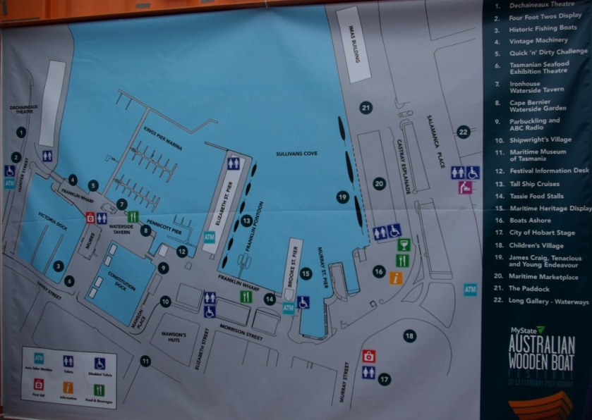 Map of the festival events and exhibits. AustralianWooden Boat Festival Hobart