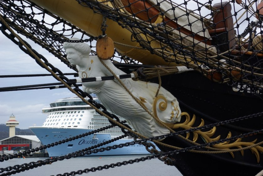 Figurehead on SV Tenacious - Sail Training ship from the UK - Australian Wooden Boat Festival 2017