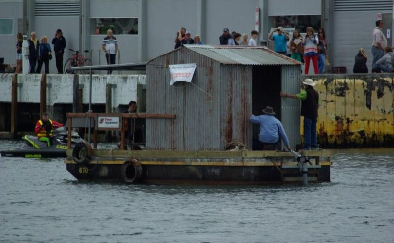 floating hut on the Derwent in Hobart.