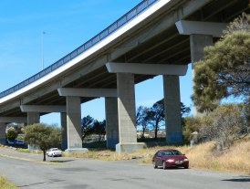 Under the Tasman Bridge
