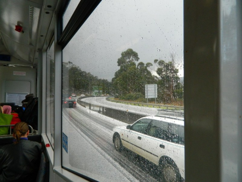 Southern Outlet Hobart in winter