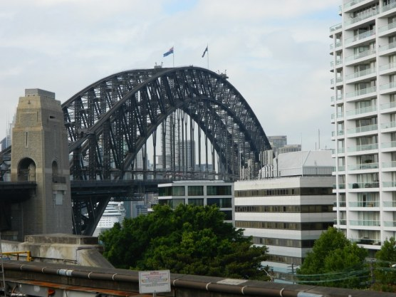 Milson's Point, the northern end of the bridge
