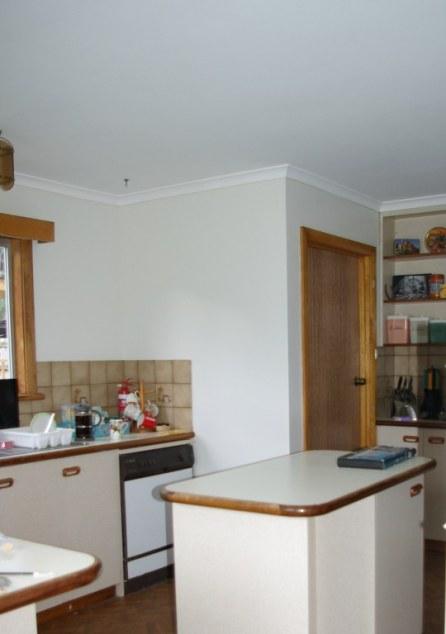 Freshly repainted kitchen