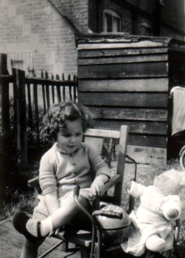 Me with my teddy bear James.