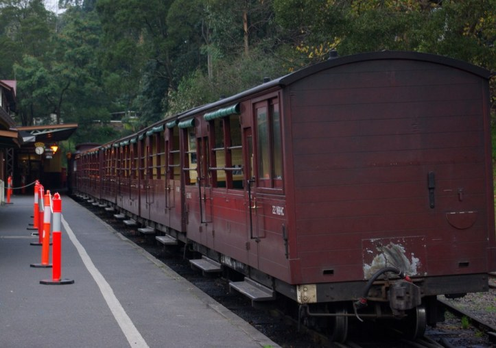 Open carriages Puffing Billy Railway