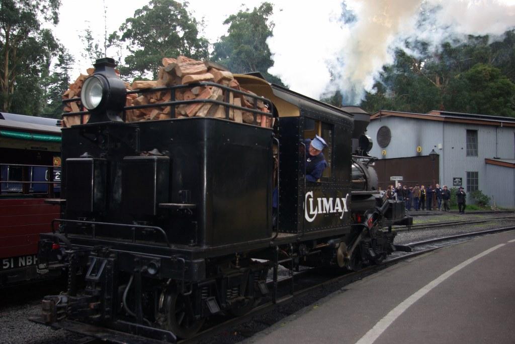 Climax locomotive at Belgrave.