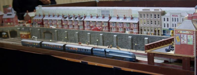 A model railway based on Britain in the 50s.