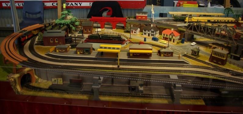 A Triang Hornby train set. Hobart Model Railway show 2016.