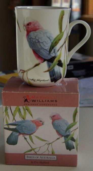 Australian birds mug.