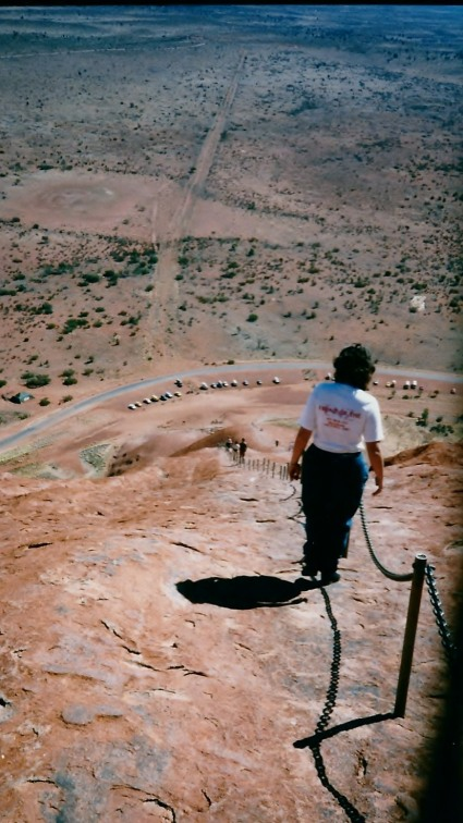 Me descending from Uluru